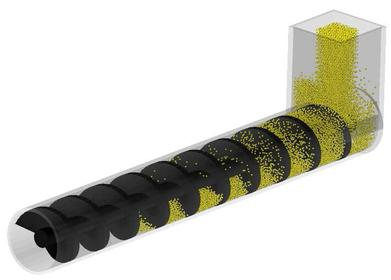 2軸スクリューによる流体/粉体の混合・搬送
