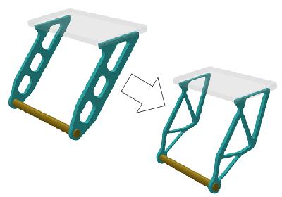 網棚下のブラケット形状最適化