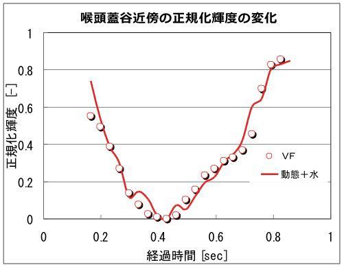 嚥下造影とシミュレーションの定量的比較