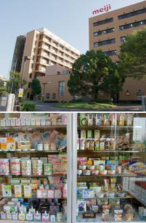 上:小田原研究所  下:開発商品の数々