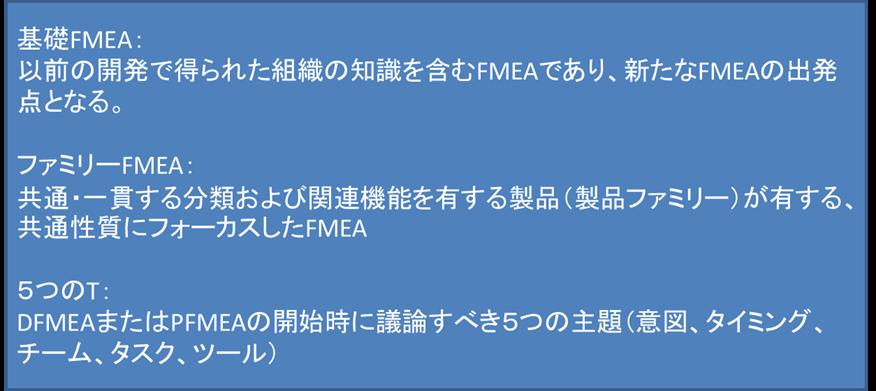 基礎FMEA ファミリーFMEA 5つのT
